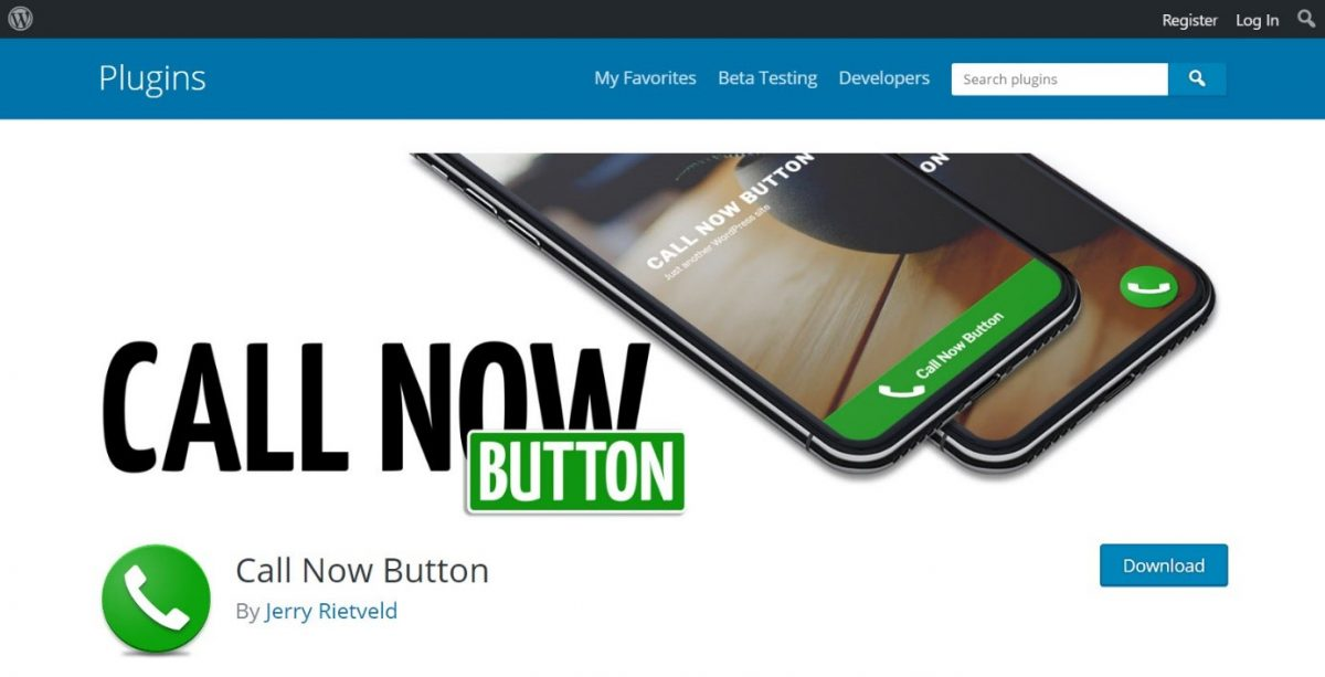 Call now button plugin for WordPress