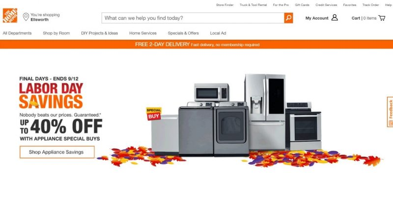 Screenshot of a holiday deal on an e-commerce site