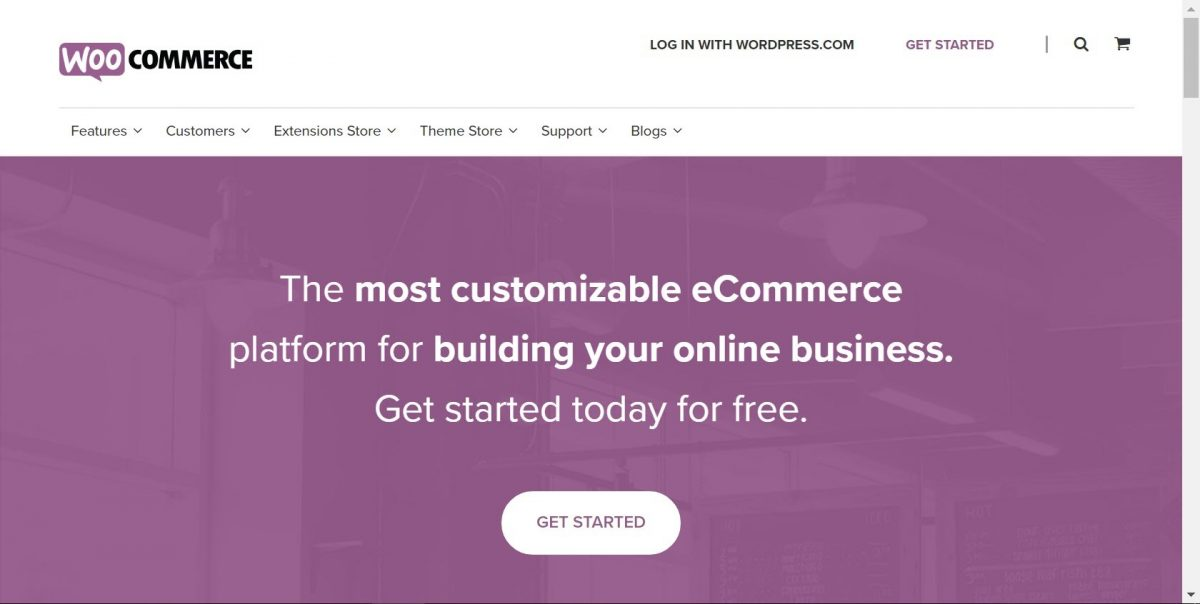 WooCommerce home page copy