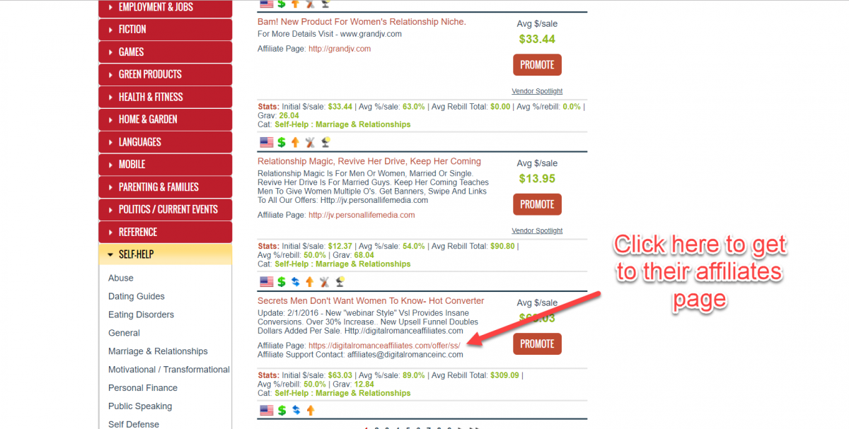 ClickBank affiliate offers