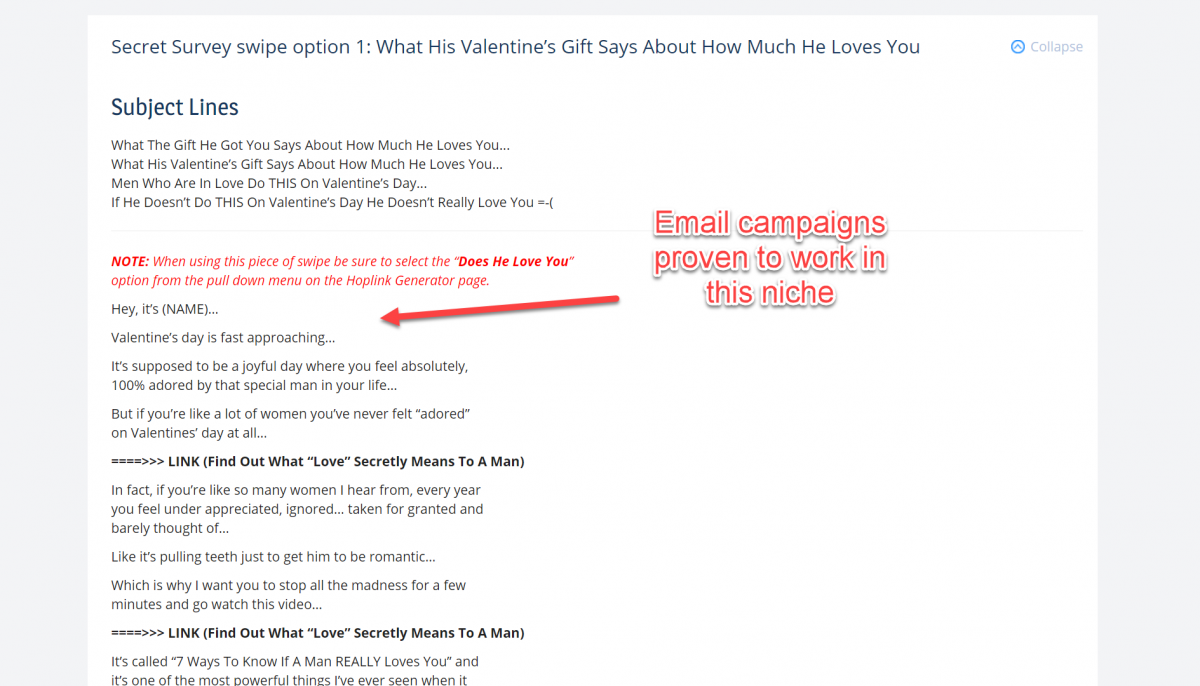 Proven email campaigns in ClickBank