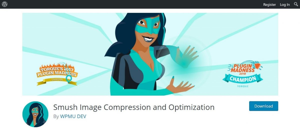Smush image compression and optimization plugin for WP