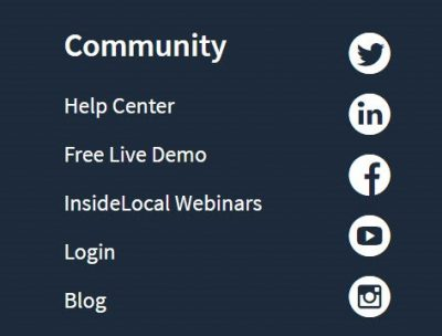 Social icons in site footer