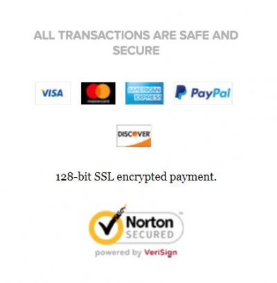 Screenshot of trusted seals on a payment page of an e-commerce site checkout