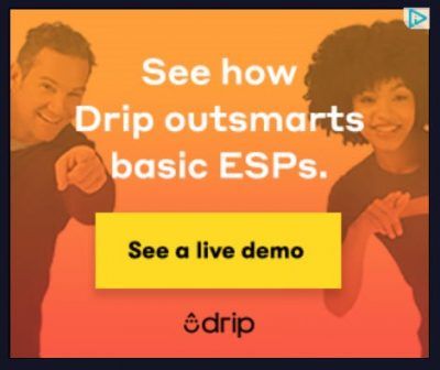 Screenshot of a retargeting ad aimed at brand awareness. The ad is inviting users to click to see a live demo of the product