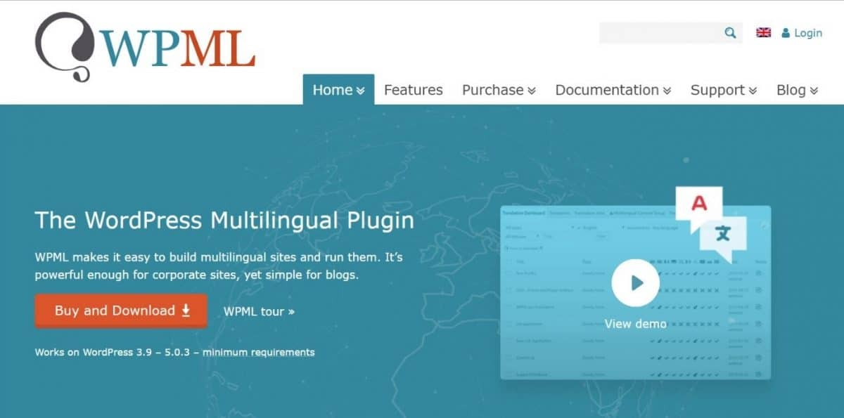 WPML tool for WordPress that creates multilingual pages
