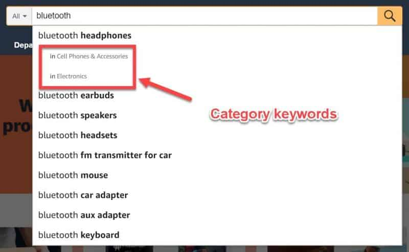 Finding category keywords with Amazon suggest