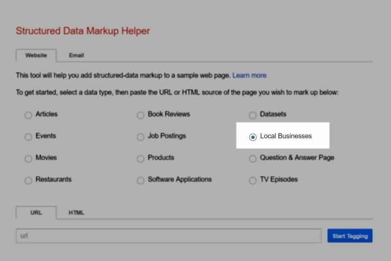 Local business Structured Data Markup Helper