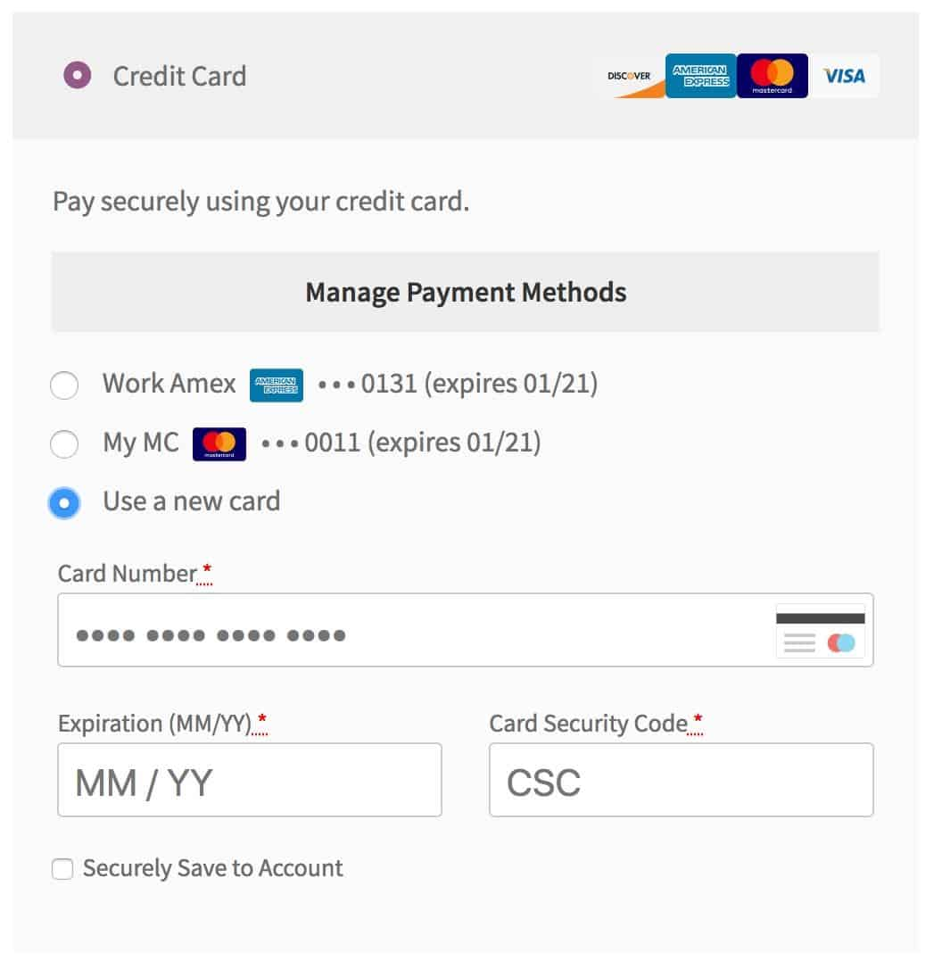 bambora payment method at checkout
