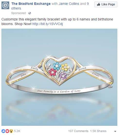 personalized ring facebook ads