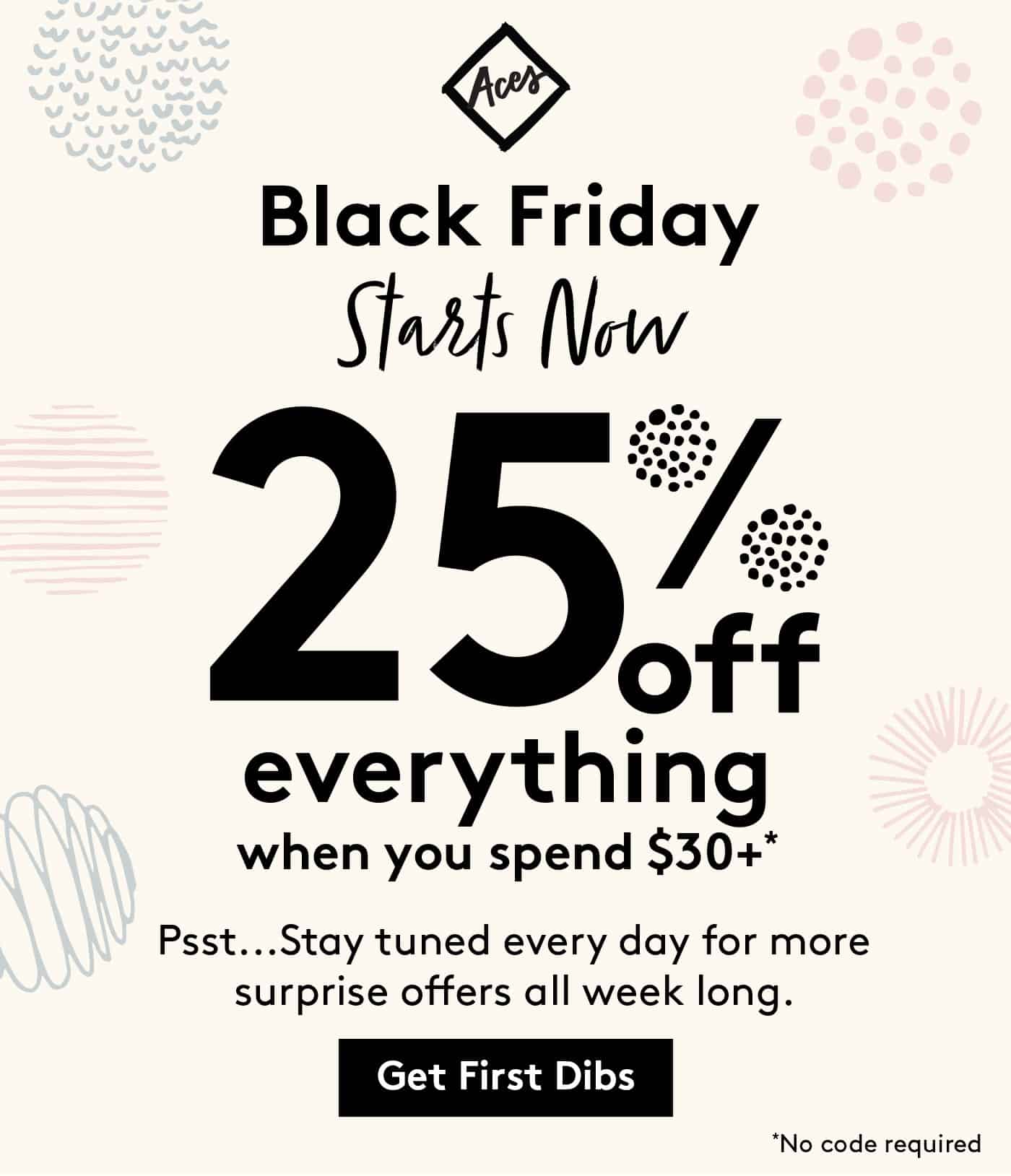black friday email discount promo