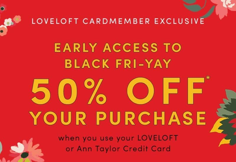 love loft black friday discount promo for vip customers