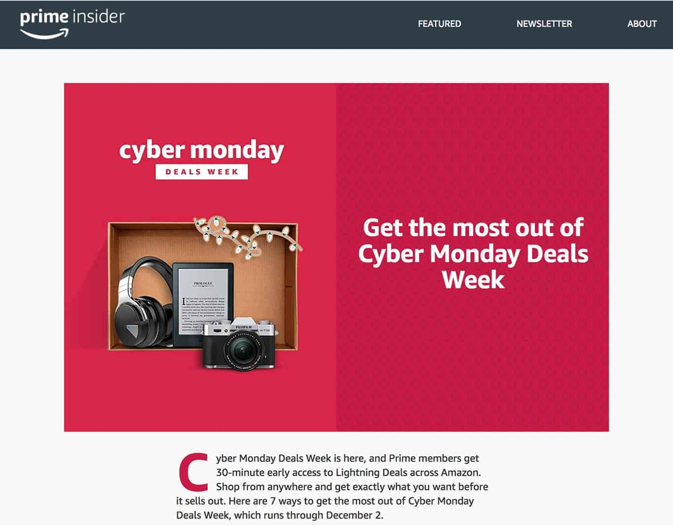 cyber monday amazon prime deals of the week