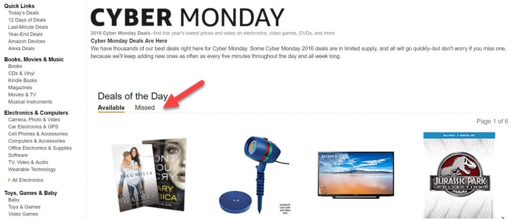 cyber monday deal of the day
