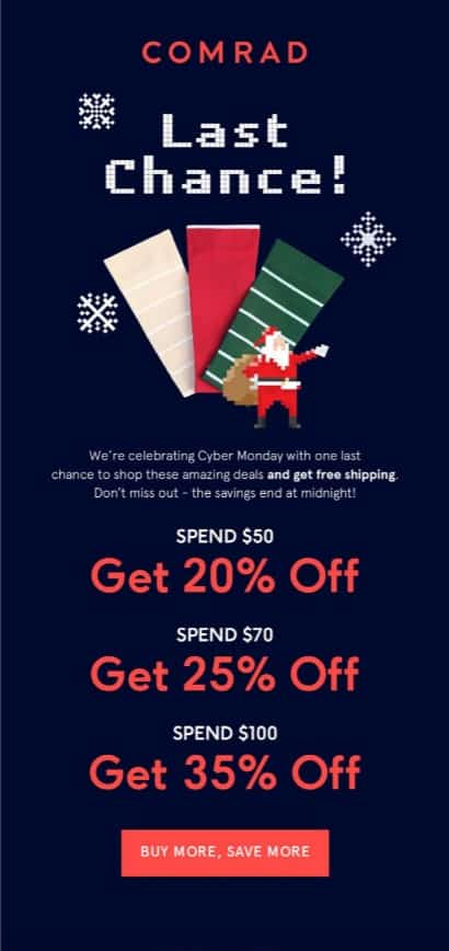 tiered discounts for holiday season