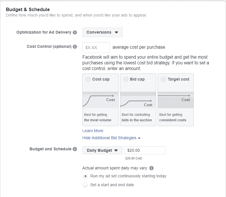 facebook ads bidding