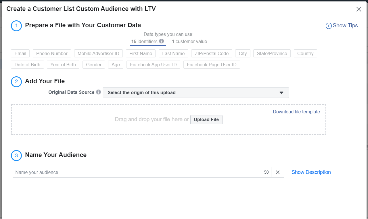 facebook lookalike audience based on customer LTV