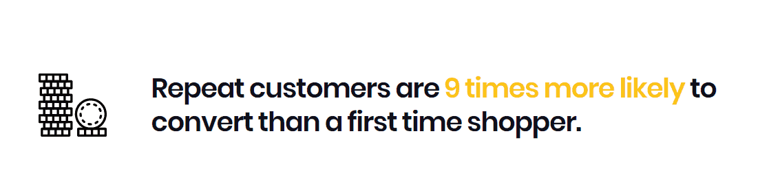 repeat customers are 9 times more likely to convert