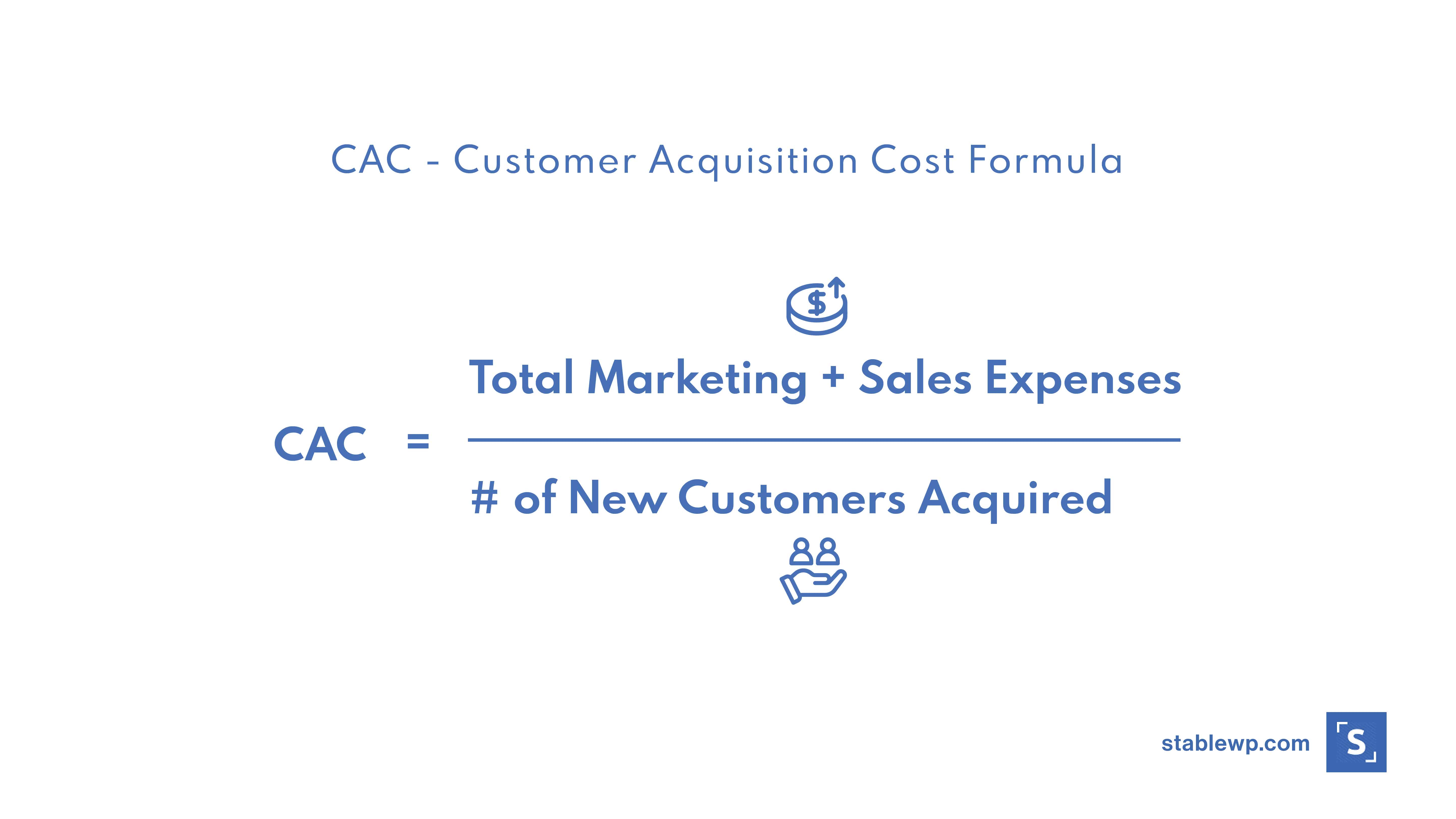 customer aquisition cost formula
