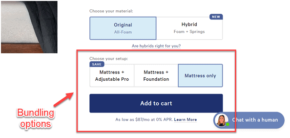 casper mattress bundling options