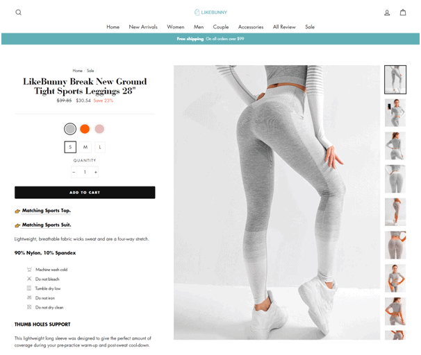 like bunny leggings product page