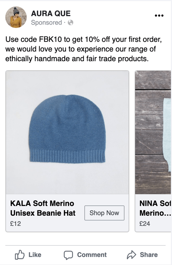 Dynamic product ad example