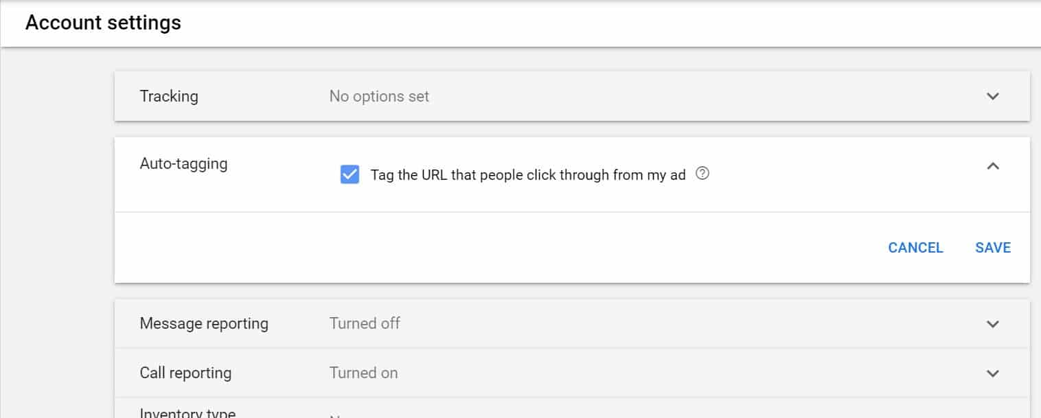 google ads auto tagging feature