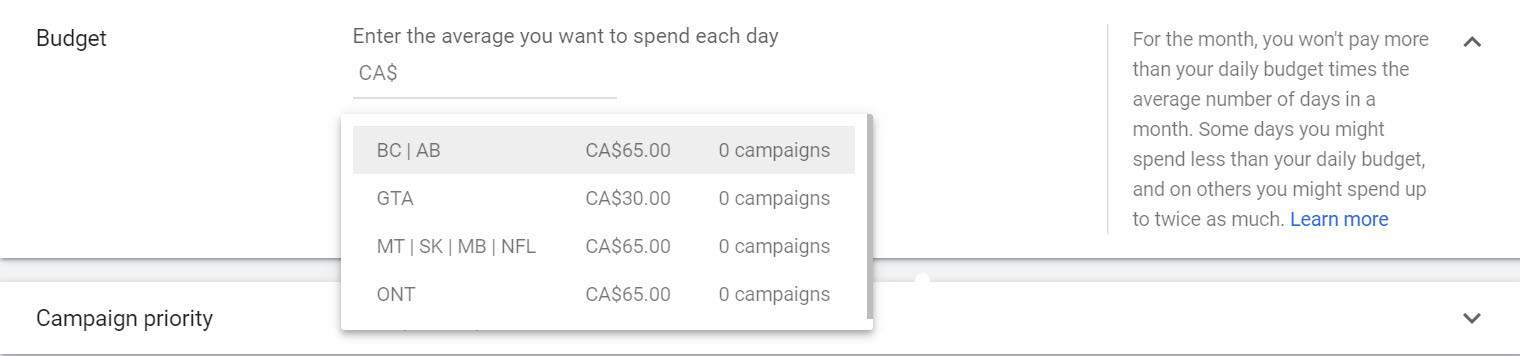 setting a shared budget for google ads campaigns